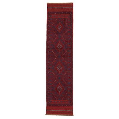 2' x 8'1 Handwoven Afghan Turkmen Mixed Technique Carpet Runner
