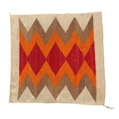 1'7 x 1'9 Handwoven Navajo Weaving Accent Rug
