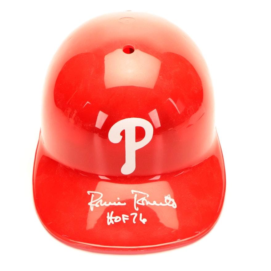 "Robin Roberts Signed ""HOF '76"" Philadelphia Phillies Batting Helmet"