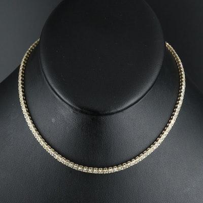 14K 5.04 CTW Diamond Rivière Necklace