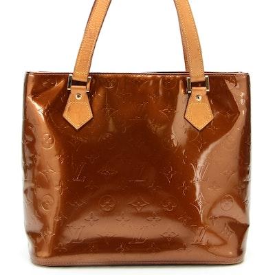 Louis Vuitton Houston Tote in Bronze Monogram Vernis and Vachetta Leather