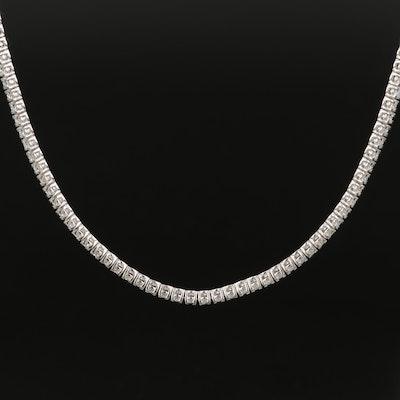14K 3.40 CTW Diamond Rivière Necklace