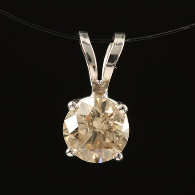 14K 0.45 CT Diamond Solitaire Pendant