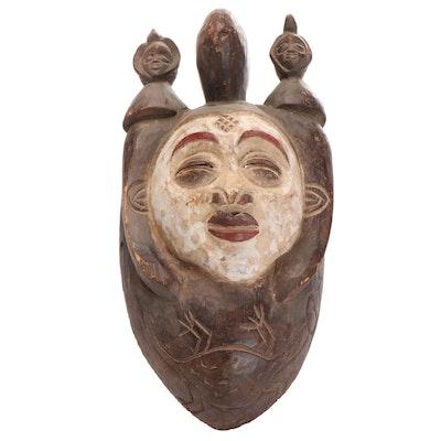 Punu Inspired Wood Mask, Central Africa