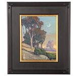 "William Hawkins Landscape Oil Painting ""Near the Coast,"" 2021"