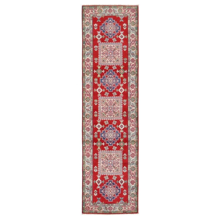 2'8 x 10' Hand-Knotted Pakistani Kazak Carpet Runner