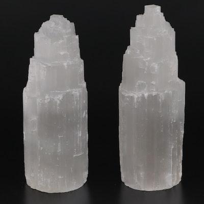 Raw Selenite Tower Light Specimens