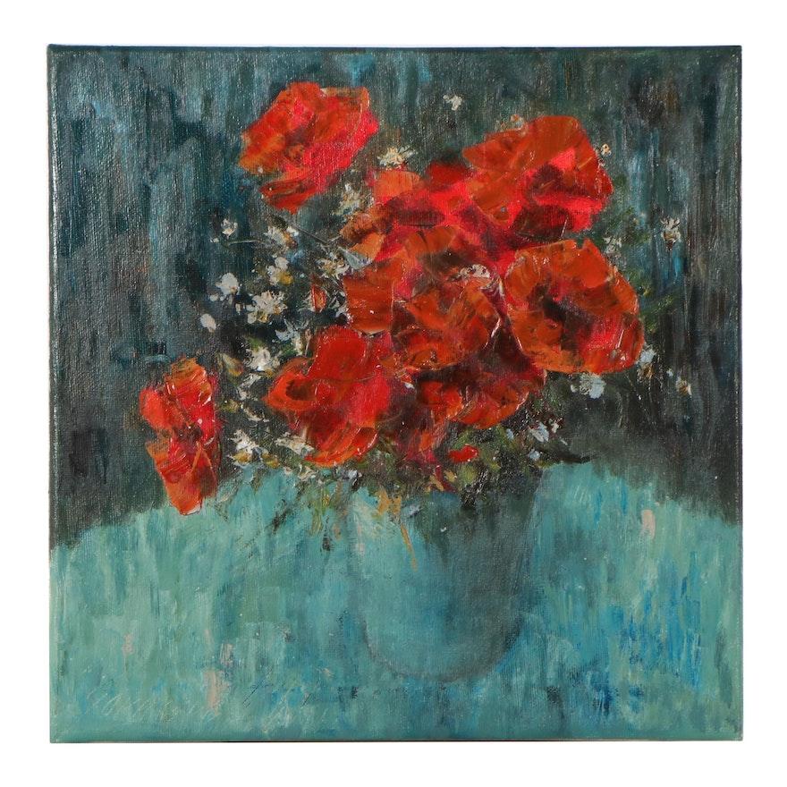 "Garncarek Aleksander Oil Painting ""Bukiet,"" 2021"