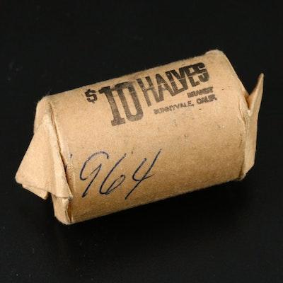 Roll of Kennedy Silver Half Dollars, 1964