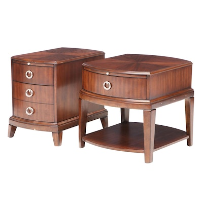 """Haverty's """"Tatiana"""" Walnut-Finish Chairside Table and End Table"""