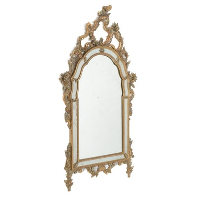Italian Rococo Style Giltwood Decorative Mirror, Mid to Late 20th Century