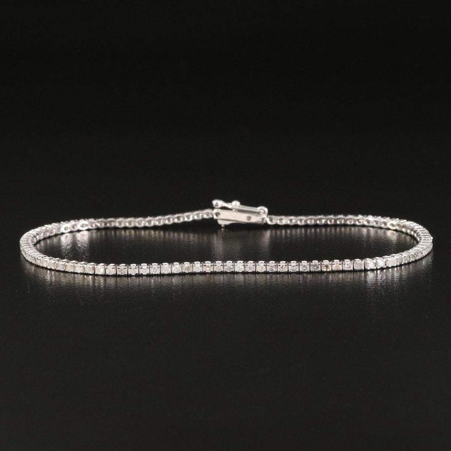14K 1.50 CTW Diamond Line Bracelet
