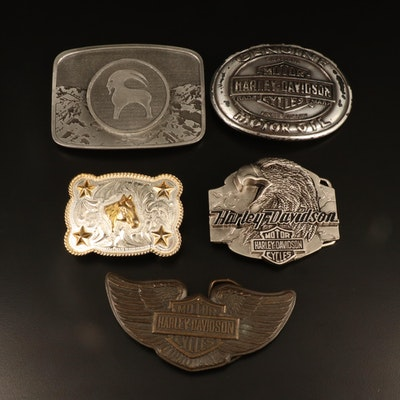 Harley-Davidson, Rockmount Ranch Wear, Justin, and More Belt Buckles