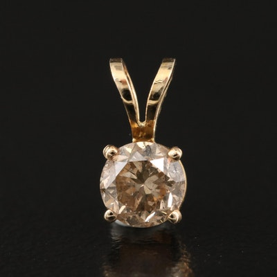 14K 0.43 CT Diamond Solitaire Pendant