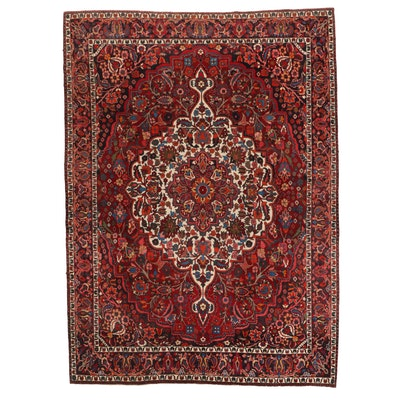 8'7 x 12'1 Hand-Knotted Persian Mashad Room Sized Rug