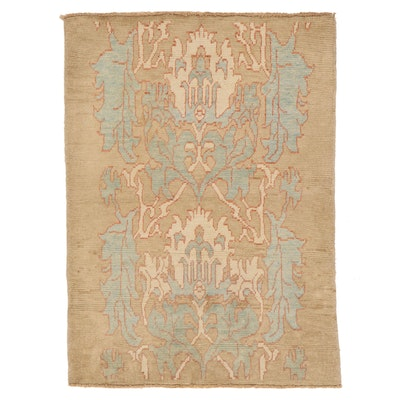 5' x 6'11 Hand-Knotted Turkish Donegal Area Rug
