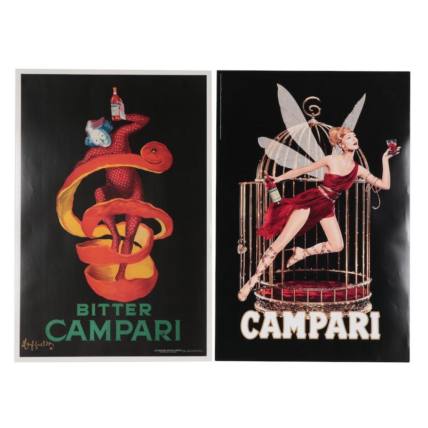 Campari Liqueur Offset Lithograph Poster Advertisements