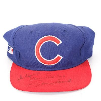 Ron Santo, Glenn Beckert and Don Kessinger Signed Chicago Cubs Baseball Hat
