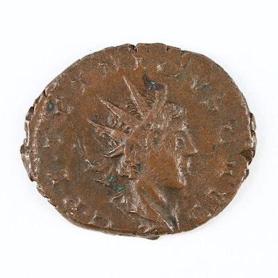 Ancient Roman Imperial AE Antoninianus of Tetricus II, ca. 273 AD
