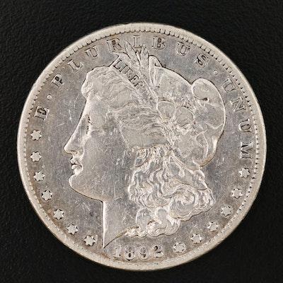 Better Date Lower Mintage 1892-CC Morgan Silver Dollar