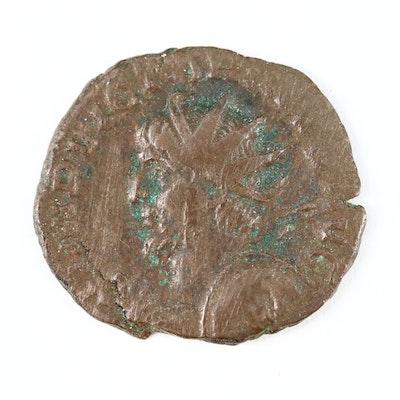 Ancient Roman AE Antoninianus of Emperor Victorinus, 269–271 AD