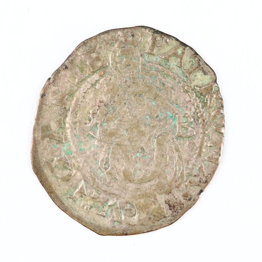 Hungarian Silver Denar Under Ferdinand I, 1553 A.D.