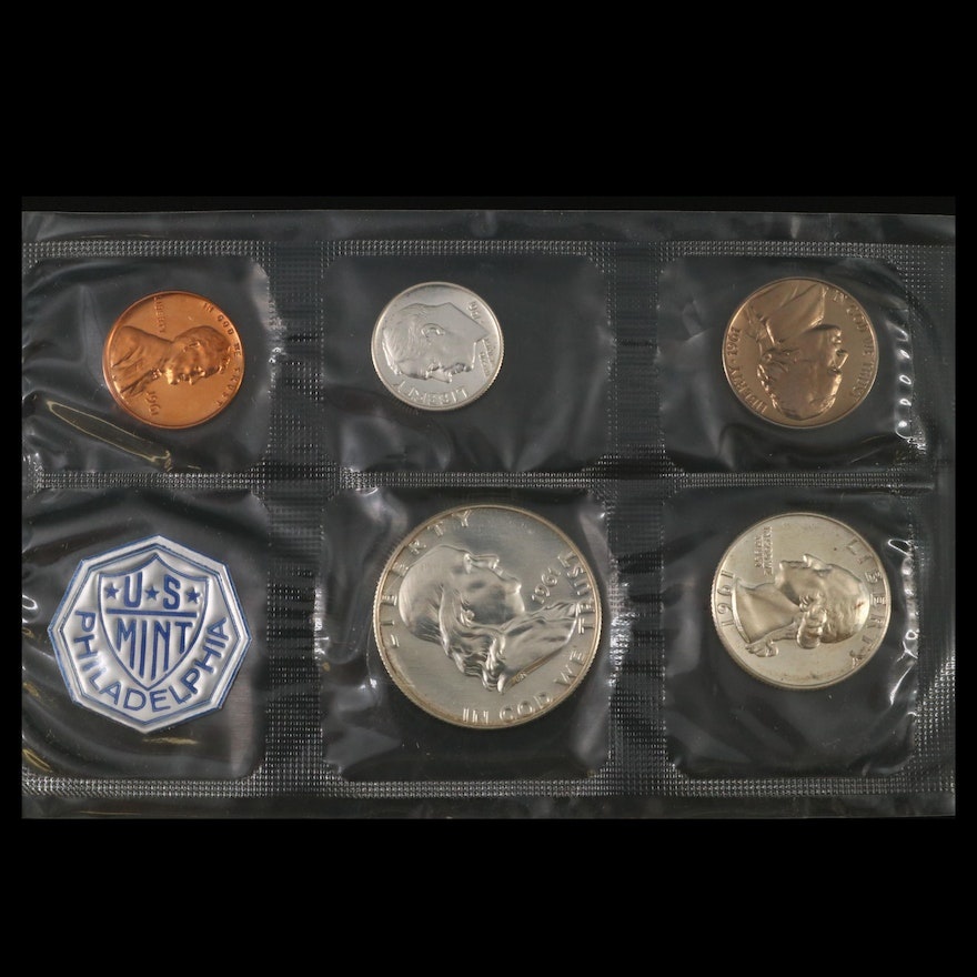 U.S. Mint Silver Proof Uncirculated Coin Sets, 1961–1964