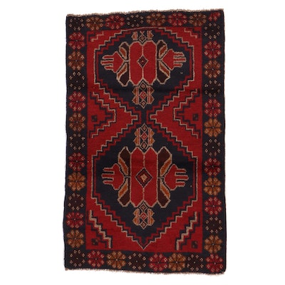2'10 x 4'5 Hand-Knotted Afgan Baluch Accent Rug