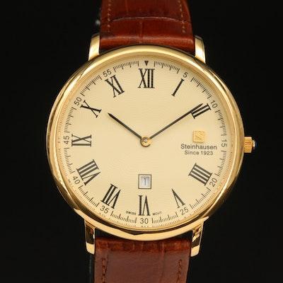 Steinhausen Gold Tone Quartz Wristwatch