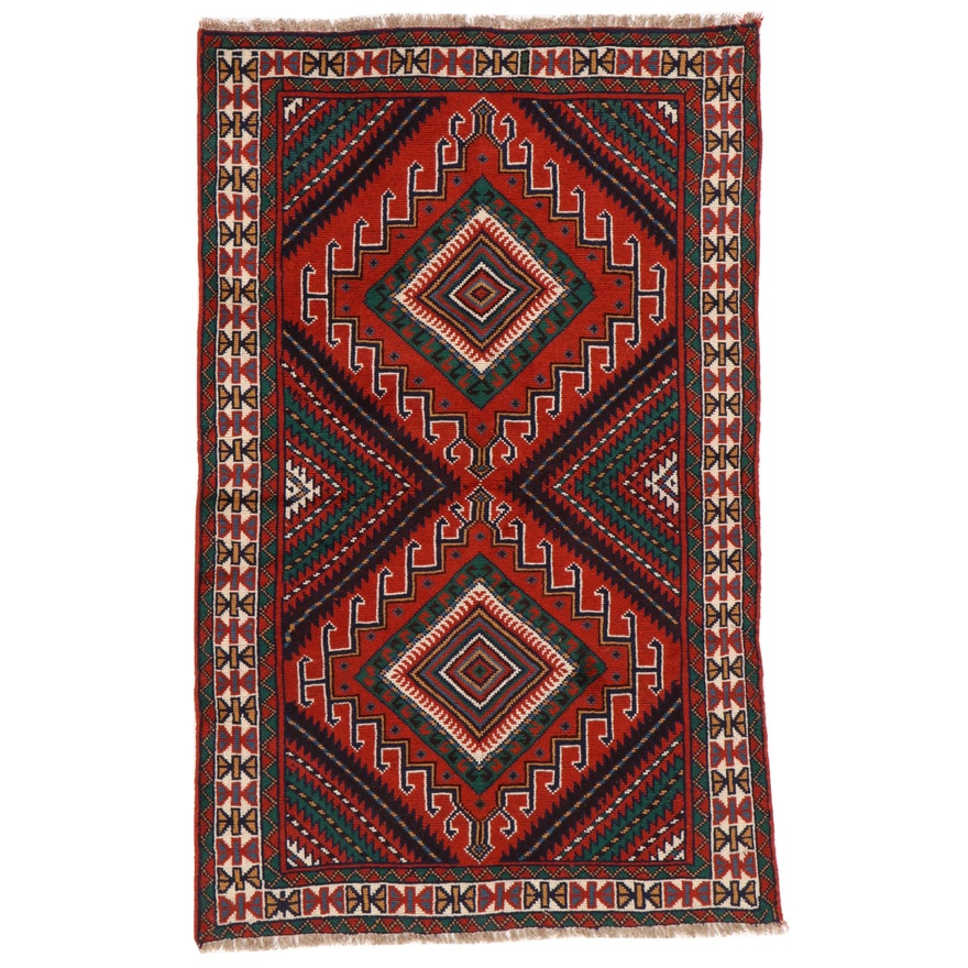 3'11 x 6'5 Hand-Knotted Persian Baluch Area Rug