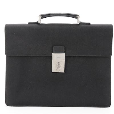 Gucci Briefcase in Black Nylon and Leather