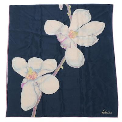 Fabric Frontline Zurich Floral Print Silk Scarf, Handmade in Switzerland