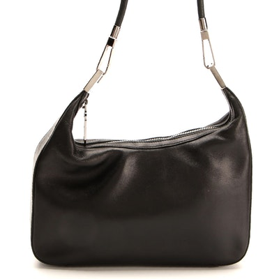Gucci Single Shoulder Strap Hobo Bag in Black Leather