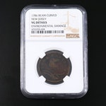 NGC Graded VG Details 1786 New Jersey Copper