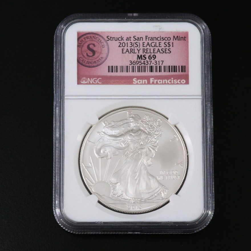 NGC Graded MS69 Early Releases 2013(S) American Silver Eagle
