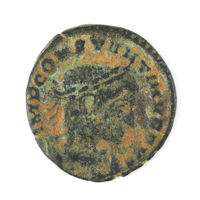 """Ancient Roman Imperial AE3 Coin of Constantine I, """"The Great"""", ca. 307 AD"""