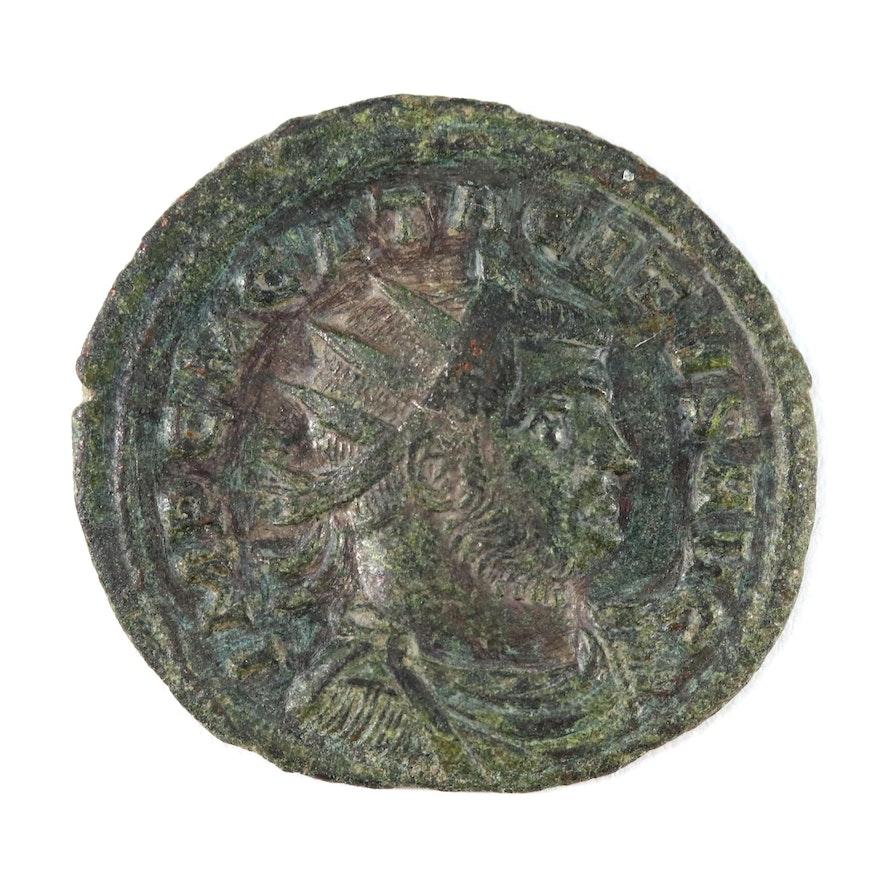 Ancient Roman Imperial AE Antoninianus Coin of Tacitus, ca. 275 AD