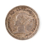 Great Britain 1843 1 1/2 Pence Silver Coin