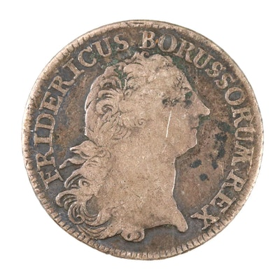 1769-B German States (Prussia) 1/3 Thaler Silver Coin