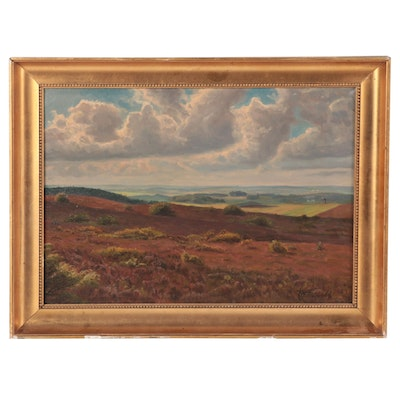Emil Wennerwald Landscape Oil Painting, Early 20th Century