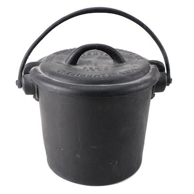 The Stewart Jail Works Co. Cast Iron Soil Bucket, Late 19th Century