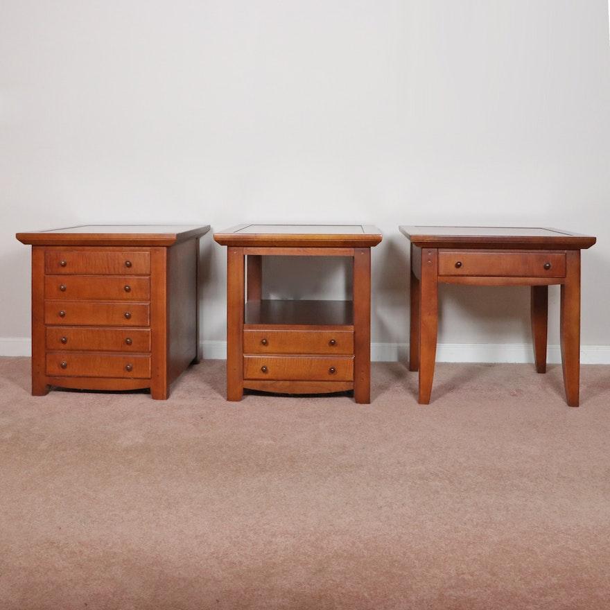 J.G. Hook by Bassett Furniture Walnut-Finish End Tables