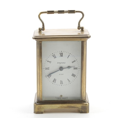 Bayard Brass Corniche Carriage Clock