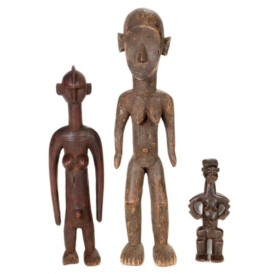 Central African Carved Wood Figures