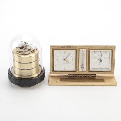 Barigo Weather Station with Seth Thomas Desk Clock and Weather Station
