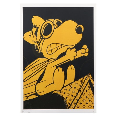 Death NYC Pop Art Graphic Print of Snoopy, 2020