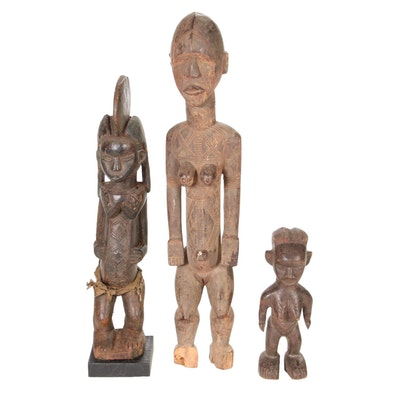 Dan Style and Other Central African Carved Wood Figures