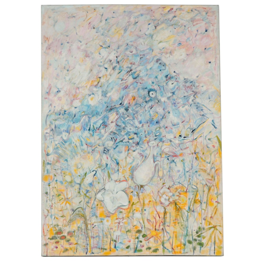 Ronald D. Newman Monumental Abstract Oil Painting