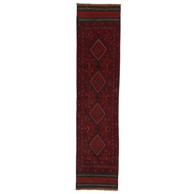 2' x 8'10 Handwoven Afghan Turkmen Mixed Technique Carpet Runner