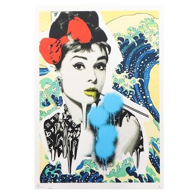 Death NYC Pop Art Graphic Print of Audrey Hepburn, 2020